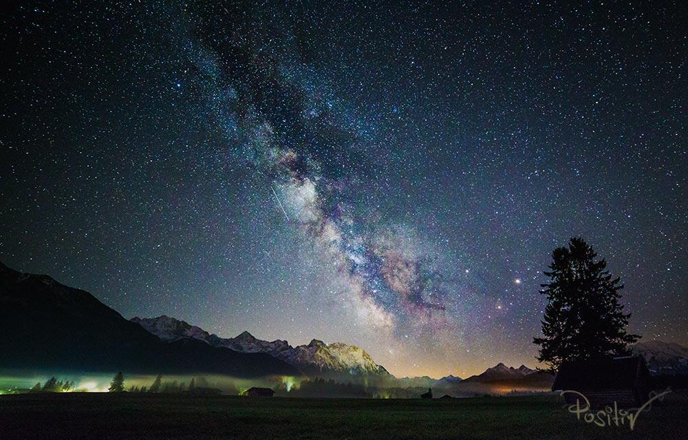 Panorama der Milchstraße mit Karwendelblick